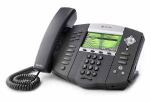 Click for large view of a Polycom SoundPoint IP 670 VoIP Desktop Phone.